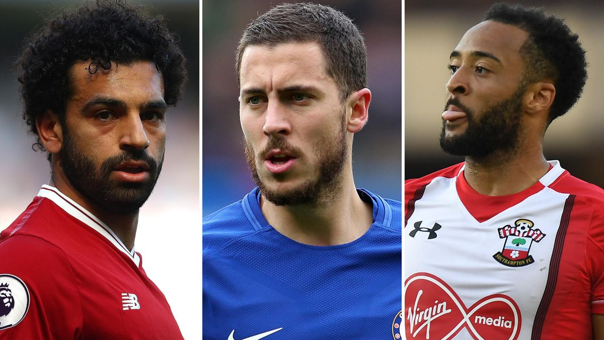 Mo Salah, Eden Hazard and Nathan Redmond