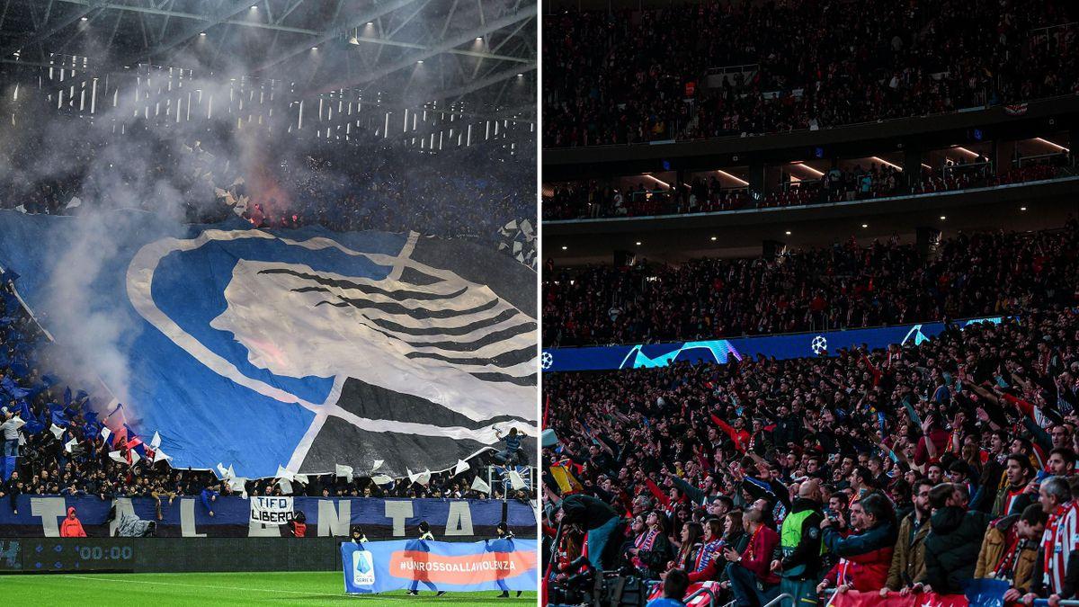 Fans of Atalanta and Atletico Madrid