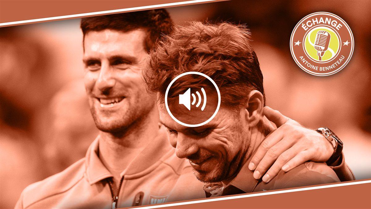 Djokovic et Wawrinka - Echange