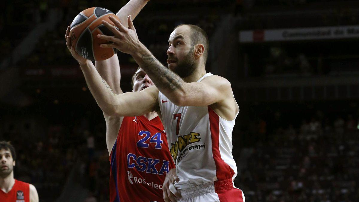 Vassilis Spanoulis en el CSKA-Olympiacos