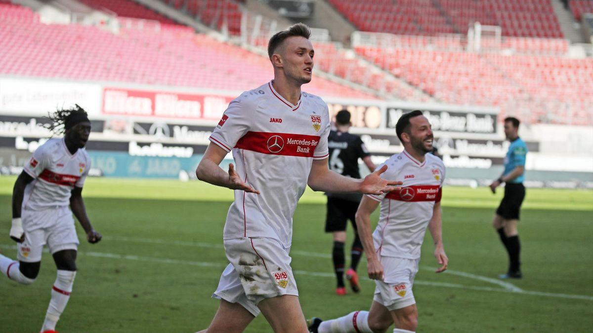 Jubel beim VfB Stuttgart nach dem Heimsieg gegen den SV Werder Bremen