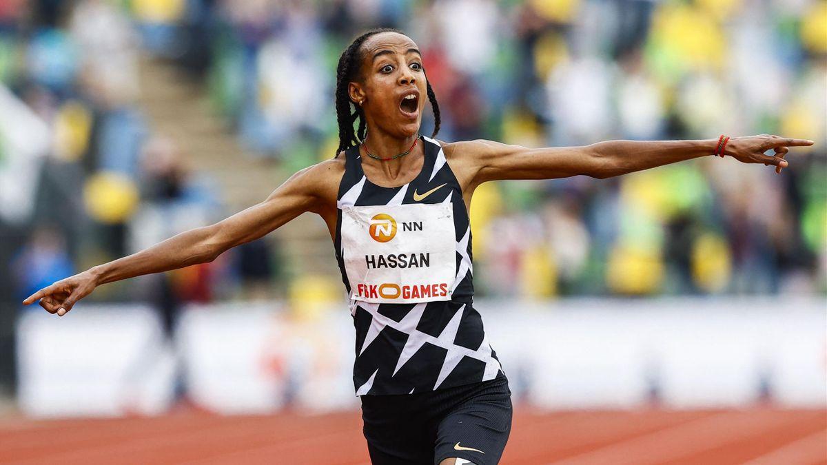 Sifan Hassan verbesserte den 10.000m-Weltrekord