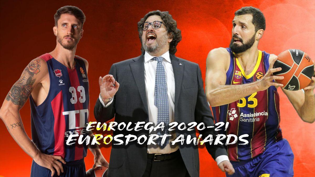 Achille Polonara, Andrea Trinchieri, Nikola Mirotic, Euroleague 2020-21, Eurosport Awards