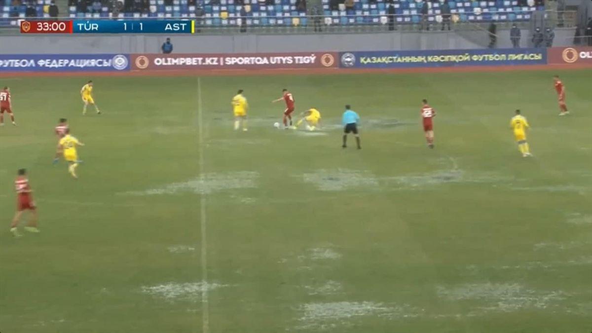 «Туркестан Арена» в матче «Туран» – «Астана» (скриншот)