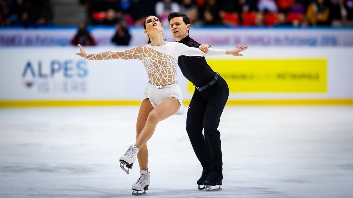 Charlene Guignard e Marco Fabbri (Italia) impegnati agli Internationaux de France a Grenoble - 2019
