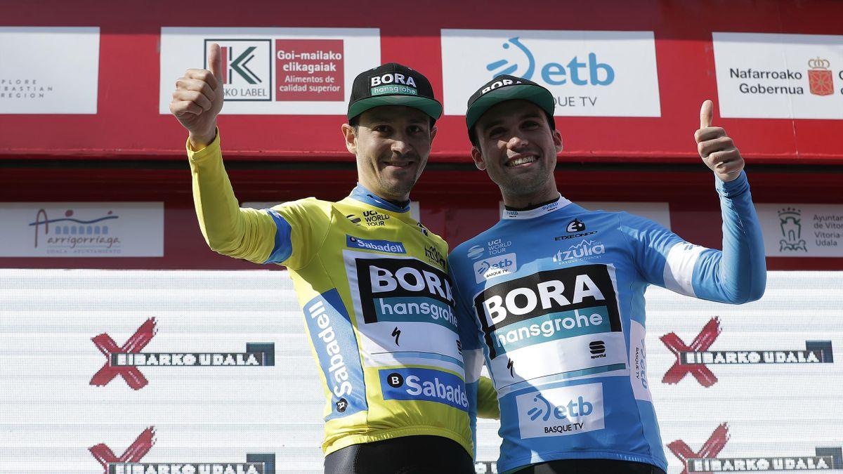 Emanuel Buchmann (links) und Maximilian Schachmann zählen zur Bora-Speerspitze