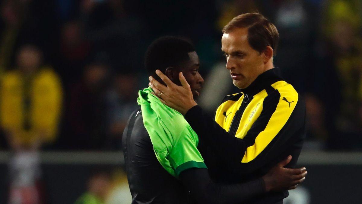 Thomas Tuchel und Ousmane Dembélé bei Borussia Dortmund