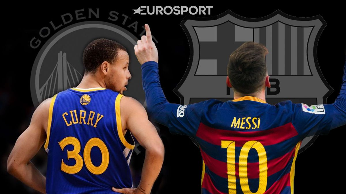 Leo Messi y Stephen Curry, Barcelona v golden State Warriors