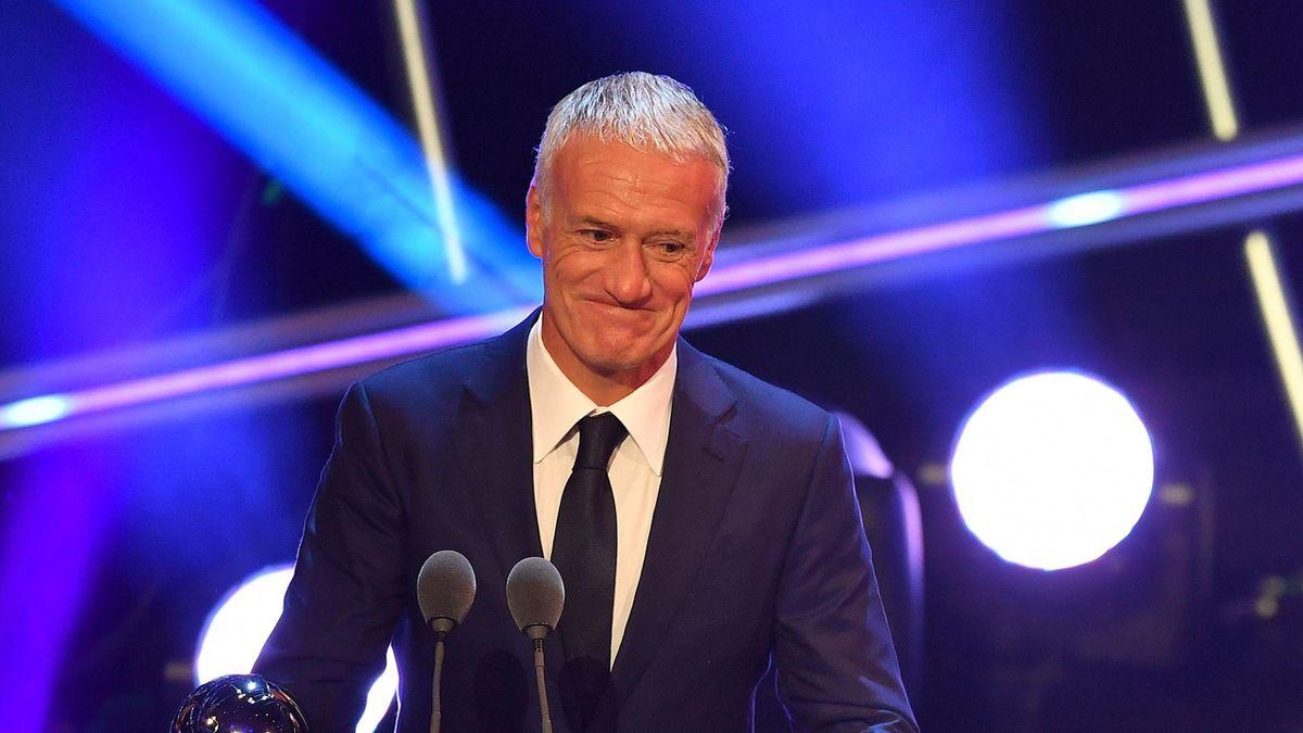 Didier Deschamps lors de la remise des prix de The Best 2018