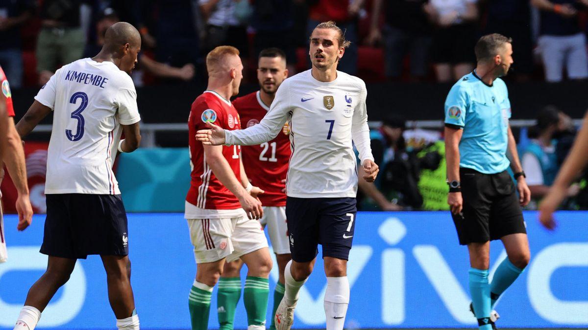 Griezmann celebrates after drawing France level