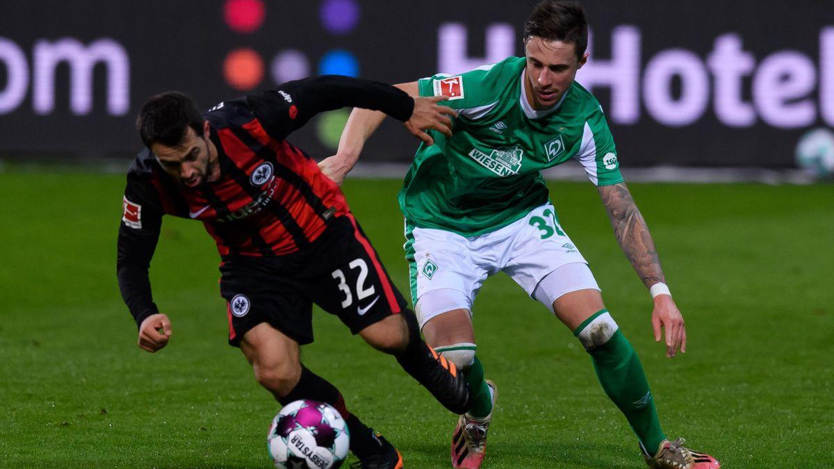 Werder Bremen and Eintracht Frankfurt