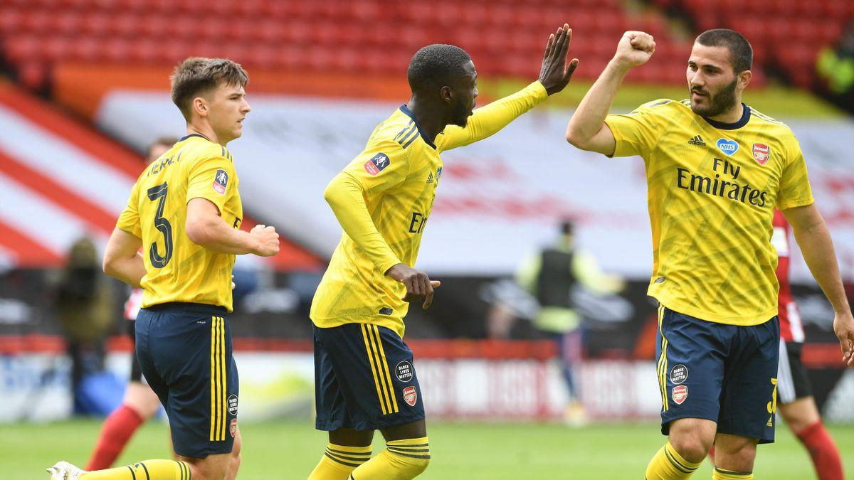 Nicolas Pépé, buteur avec Arsenal face à Sheffield United