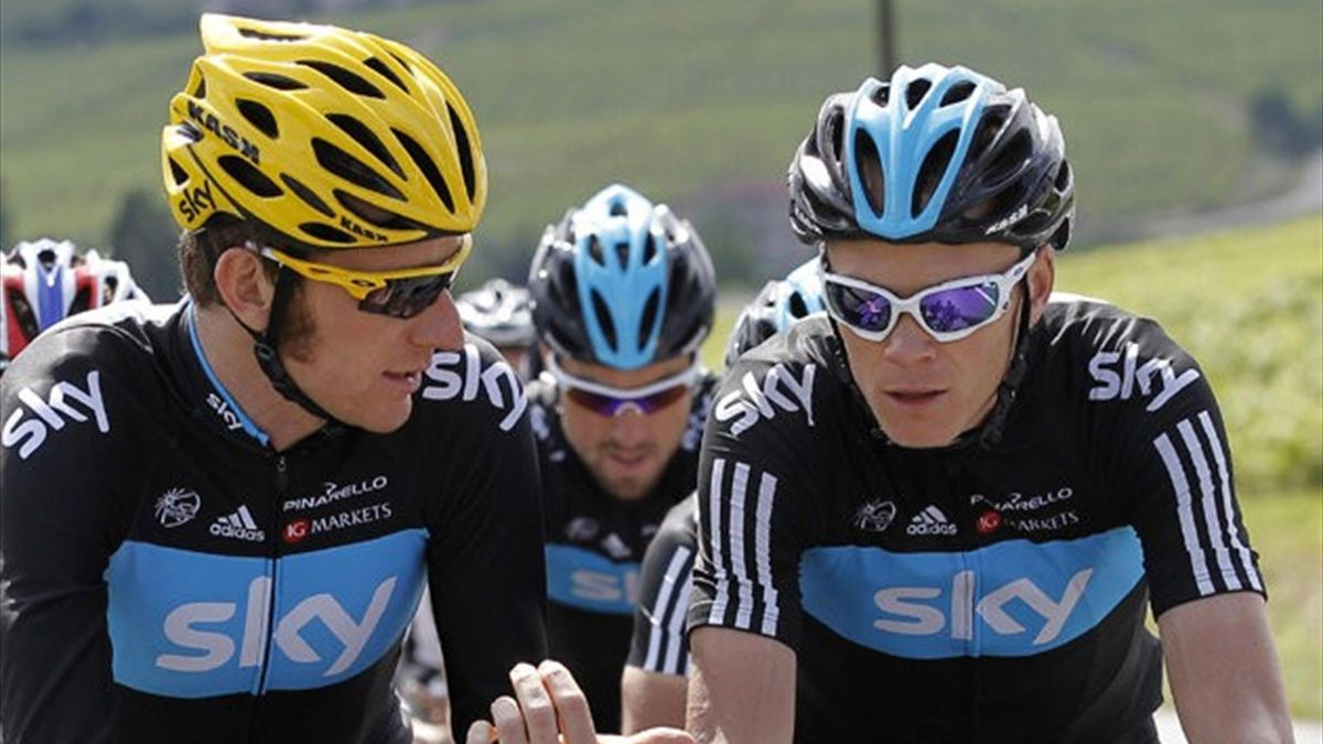Team Sky's Bradley Wiggins and Chris Froome