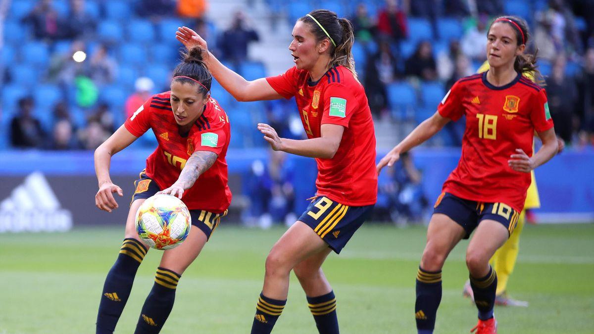 Jennifer Hermoso a inscrit deux buts sur penalty pour offrir la victoire à l'Espagne face à l'Afrique du Sud
