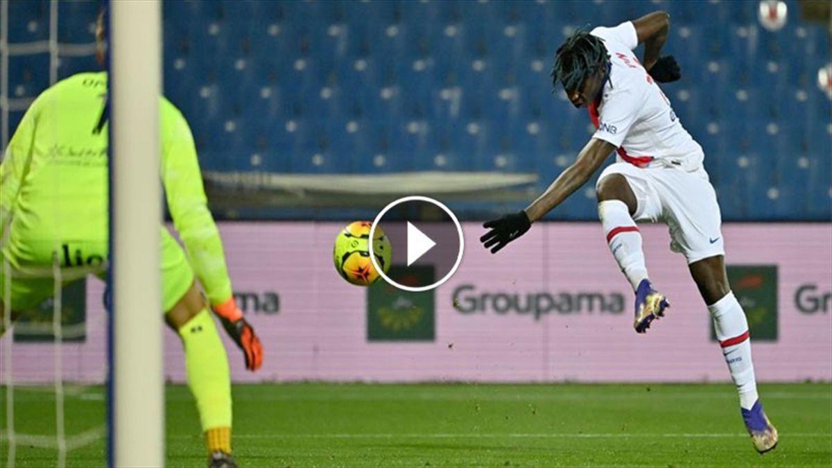 Il gol di Moise Kean al Montpellier