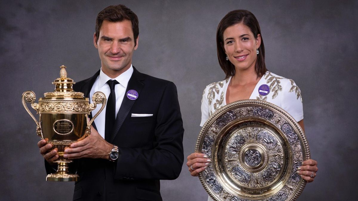 Roger Federer y Garbiñe Muguruza