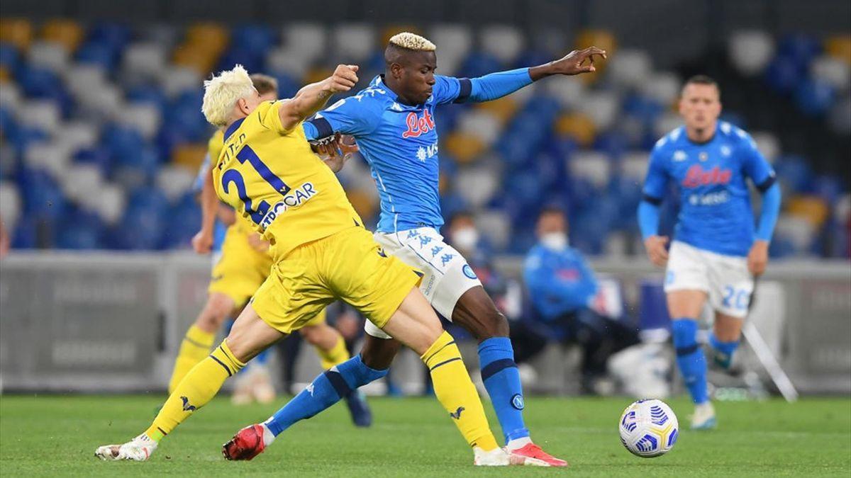 Victor Osimhen - Napoli-Verona Serie A 2020-21