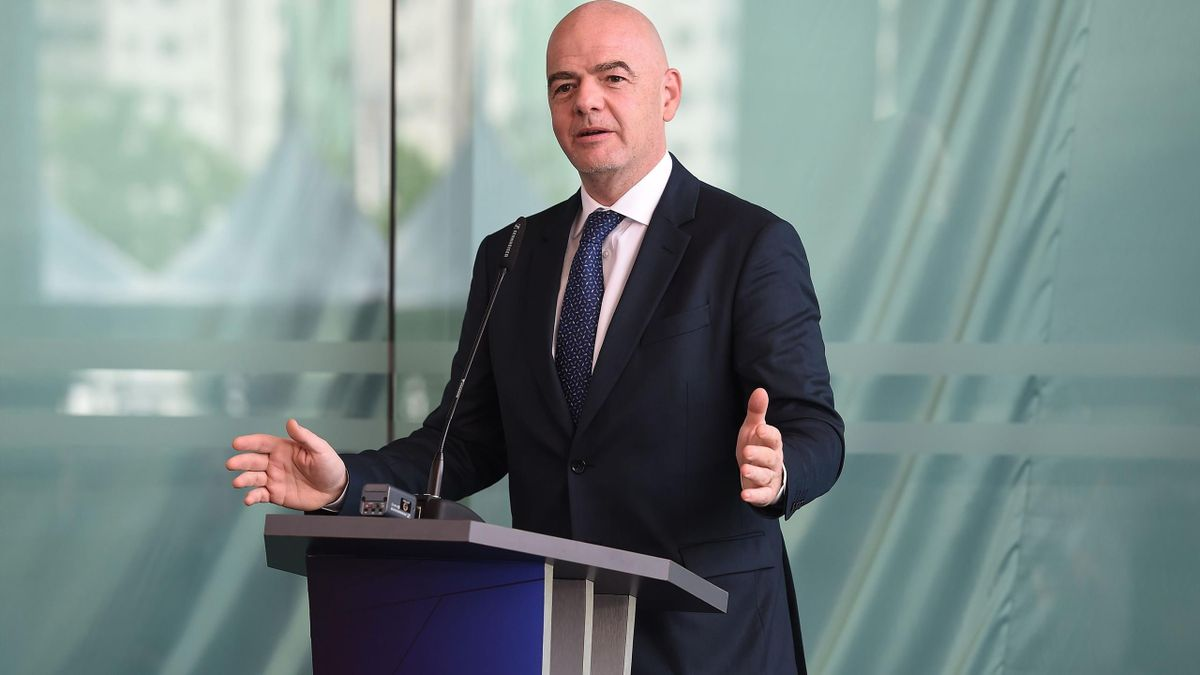 FIFA president Gianni Infantino speaks during the inauguration of the Asian Football Confederation (AFC) new headquarters in Kuala Lumpur on October 30, 2018.