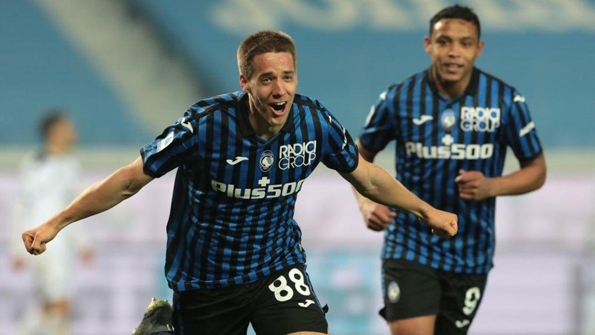 Pasalic a segno durante Atalanta-Spezia - Serie A 2020/2021 - Getty Images