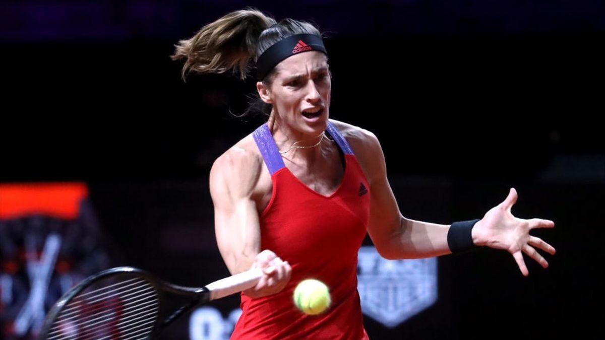 Andrea Petkovic ist beim WTA-Turnier in Stuttgart in der ersten Runde ausgeschieden