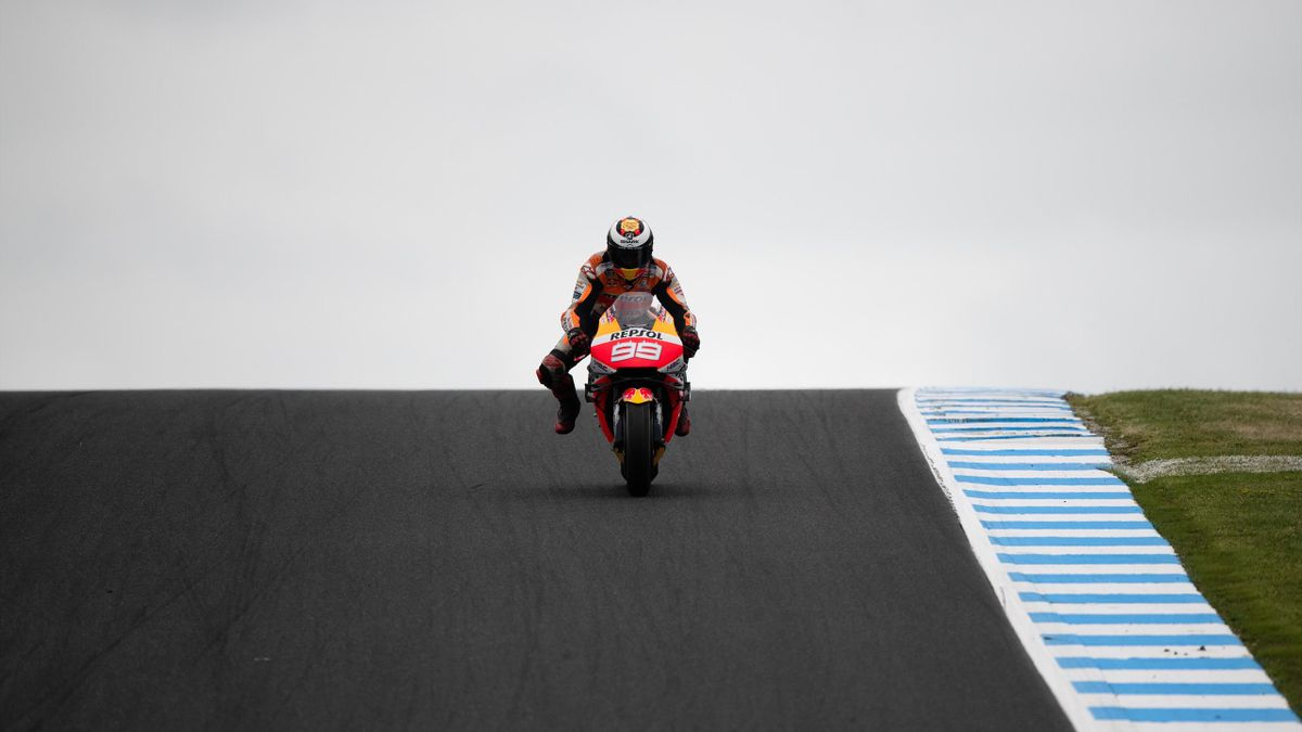 Jorge Lorenzo (Honda HRC) lors du Grand Prix d'Australie 2019