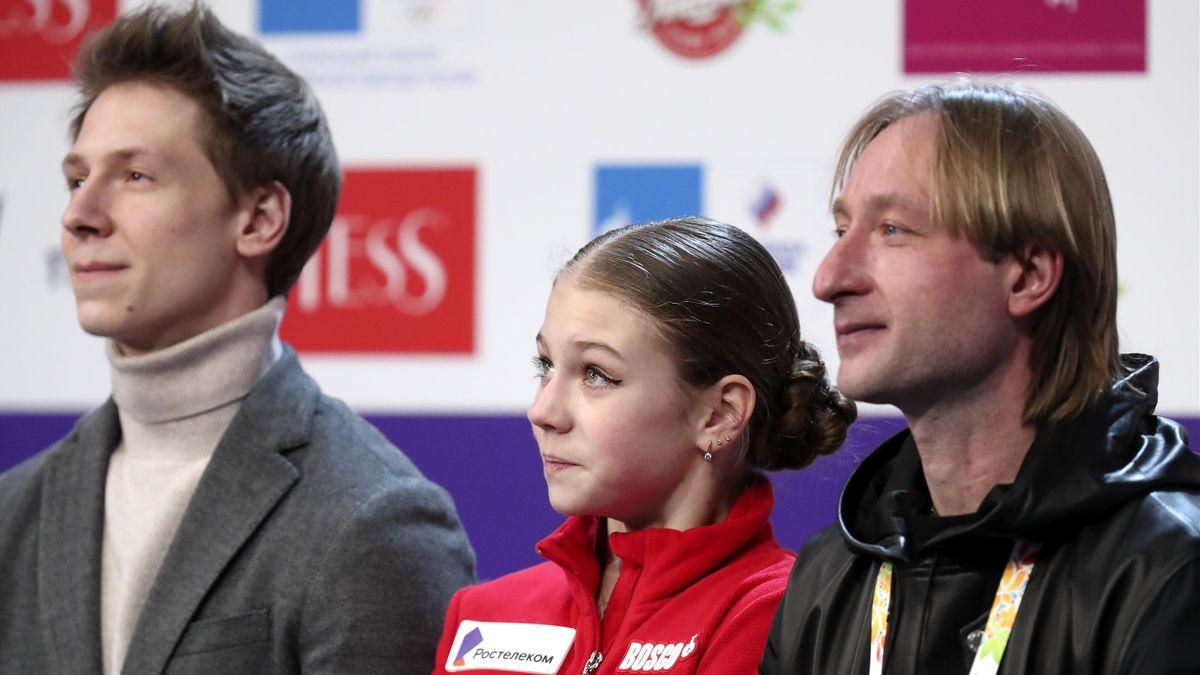 Александра Трусова с тренерами