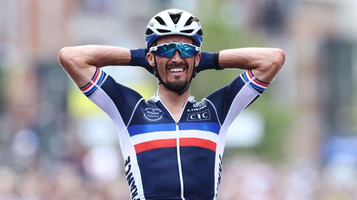 Alaphilippe arriva in solitaria - Mondiali ciclismo 2021 Leuven