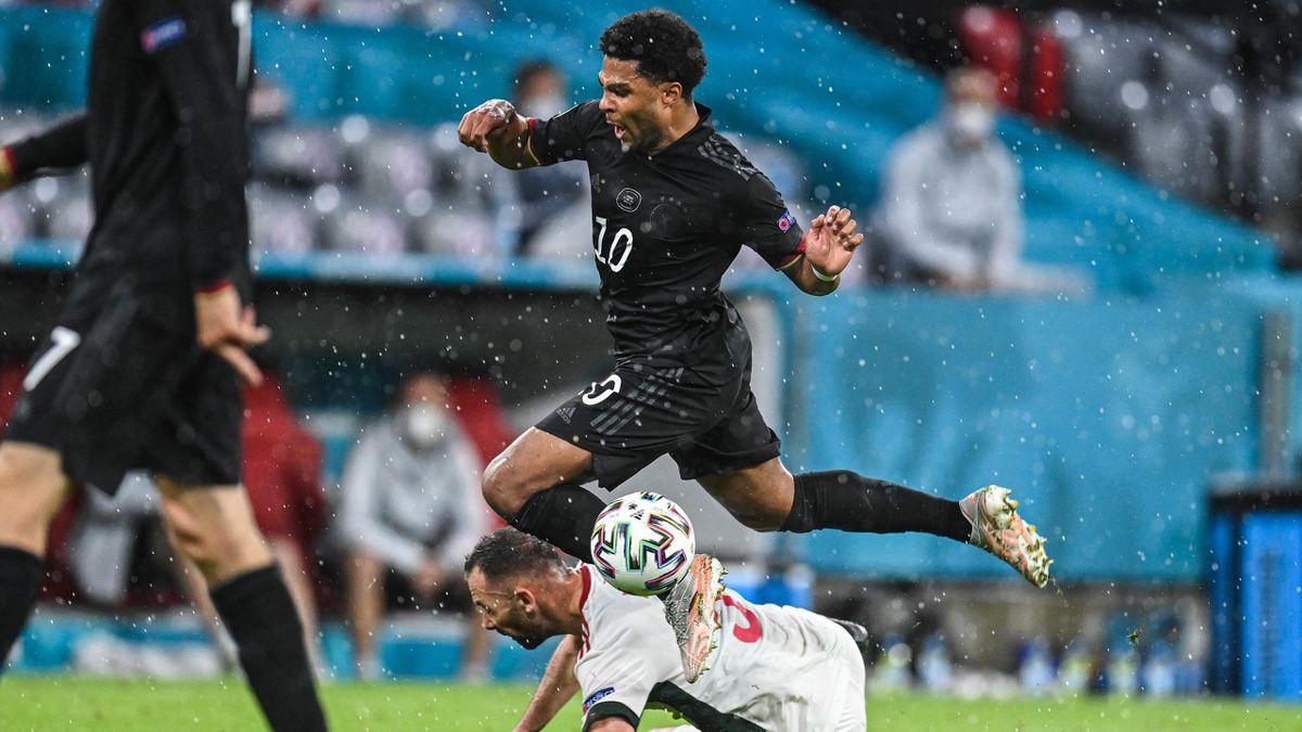 Serge Gnabry (Germany) against Hungary