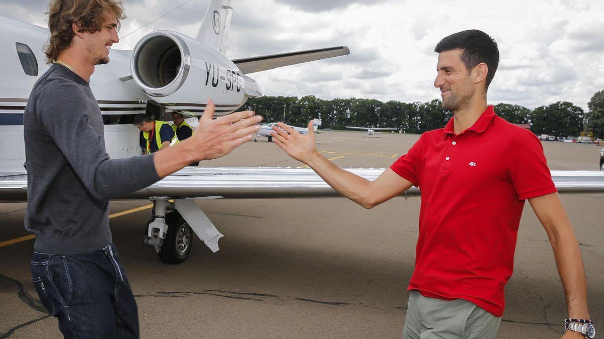Alexander Zverev & Novak Djokovic