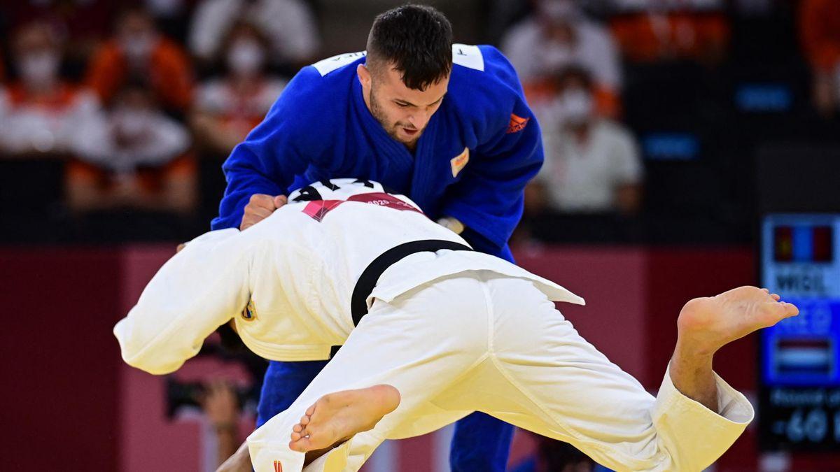 Tokyo 2020 | Judoka Tsjakadoea verliest in kwartfinale en grijpt ook net naast brons