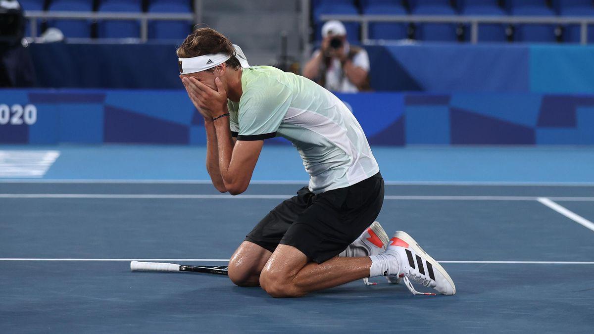 Alexander Zverev feiert den größten Sieg seiner Karriere.