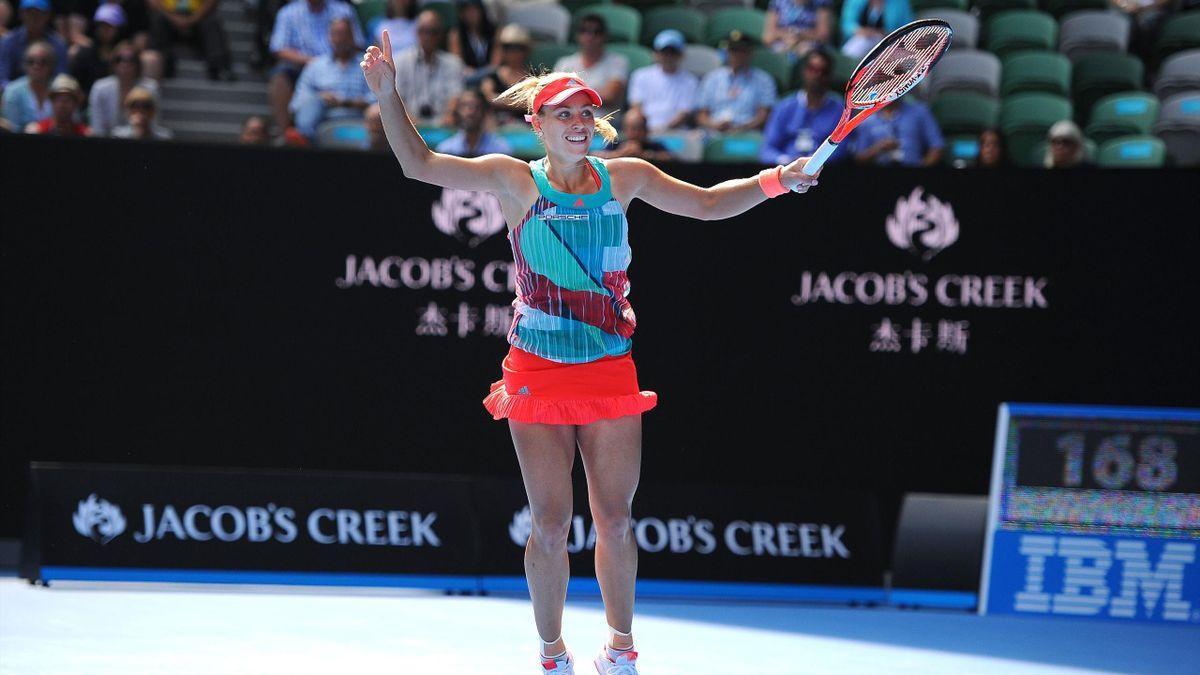 Angelique Kerber, qualifiée à Melbourne pour la première finale en Grand Chelem de sa carrière