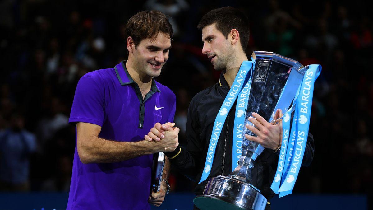 Roger Federer et Novak Djokovic, adversaires en finale du Masters 2012.