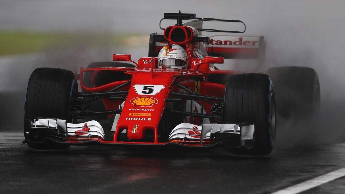 Sebastian Vettel of Germany driving the (5) Scuderia Ferrari SF70H on track during practice for the Formula One Grand Prix of Japan at Suzuka Circuit