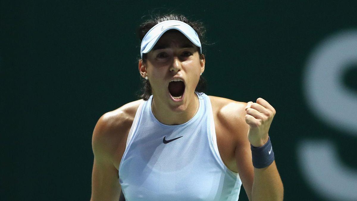 Caroline Garcia, vainqueur contre Elina Svitolina aux Masters de Singapour
