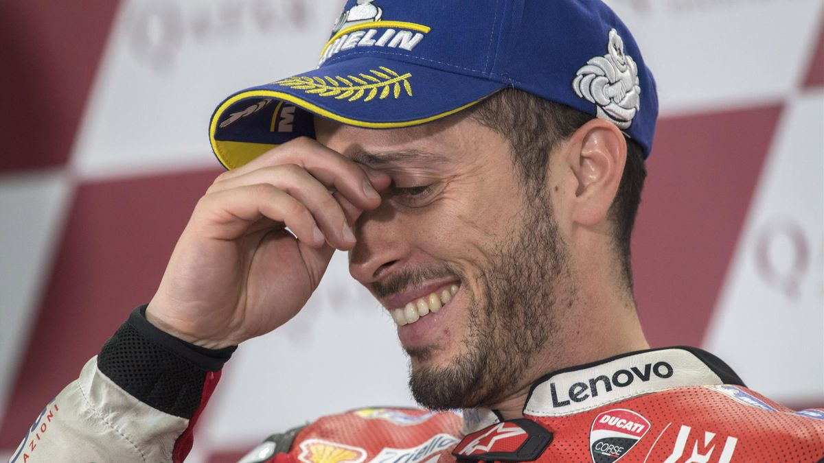 Andrea Dovizioso (Ducati Team) lors du Grand Prix du Qatar