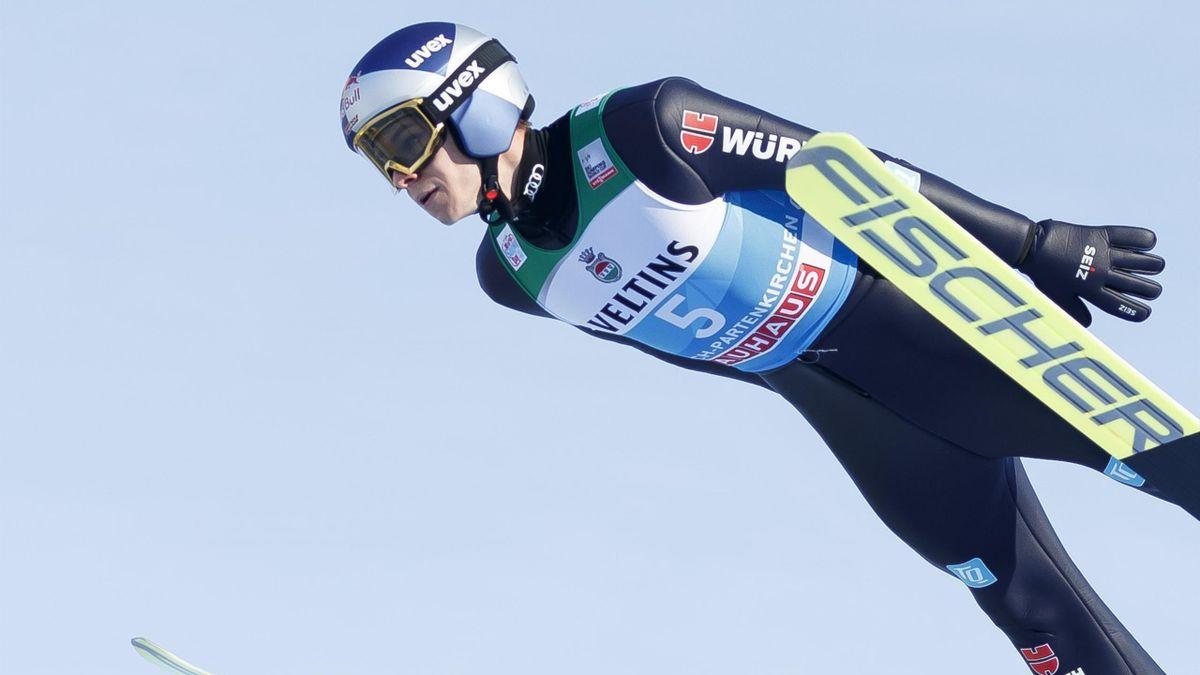 Andreas Wellinger in der Qualifikation von Garmisch-Partenkirchen