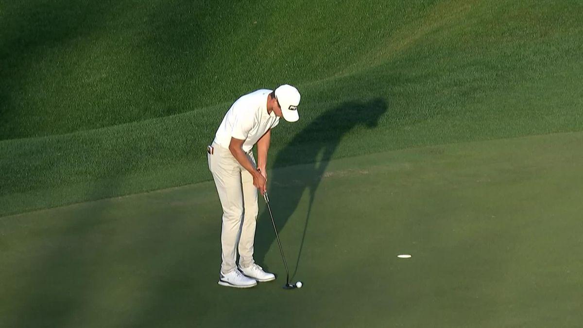 PGA - American Express: Brandon Hagi last shots of the day