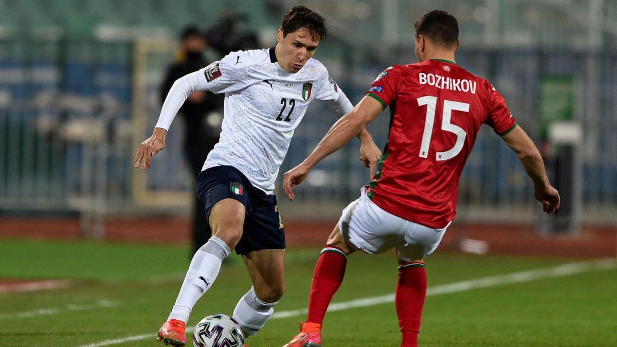 Bulgaria-Italia, Qualificazioni Mondiali 2022 - Federico Chiesa (Getty Images)