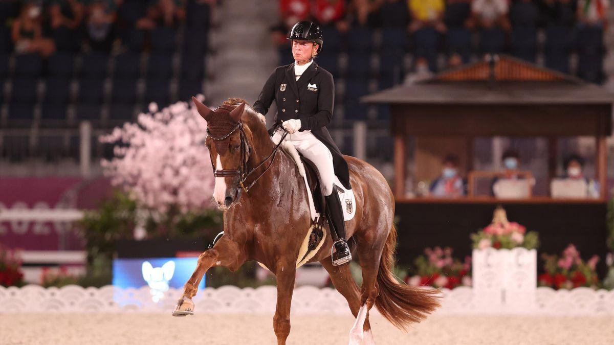 Isabell Werth zeigte in der zweiten Gruppe des Dressur-Mannschaftswettbewerbs eine gute Leistung