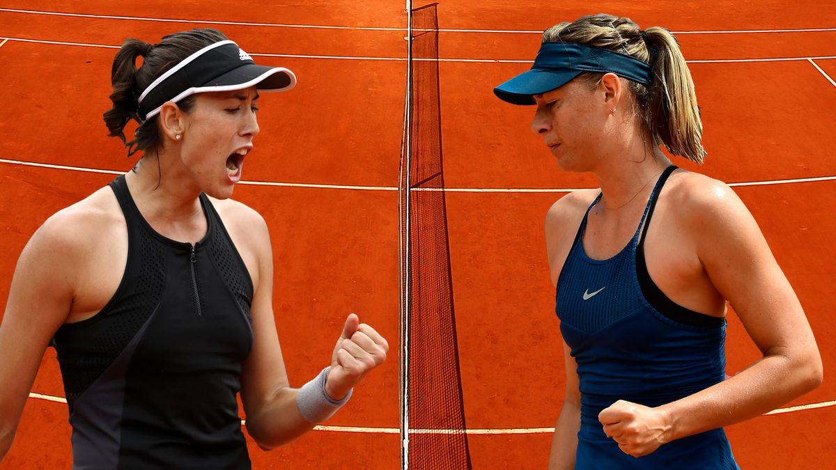 Garbiñe Muguruza y Maria Sharapova