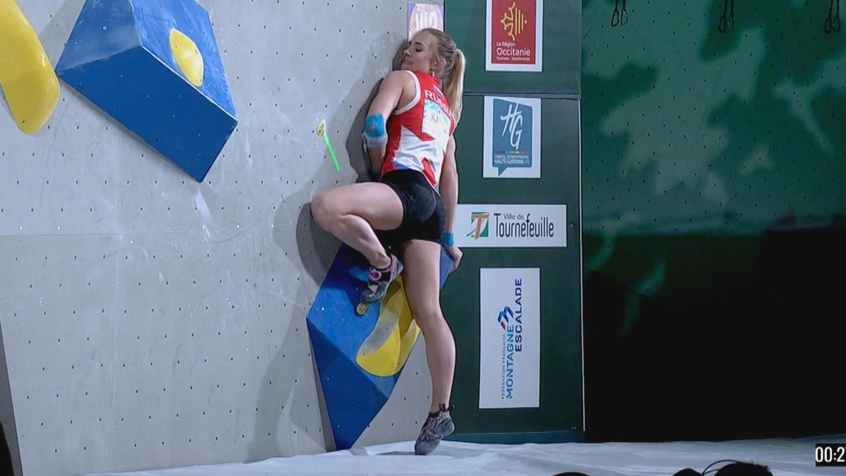 Climbing : fail for Klapina who can't get up the ground in 4 minutes