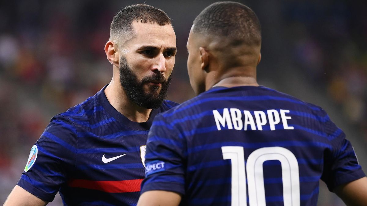 Karim Benzema and Kylian Mbappé