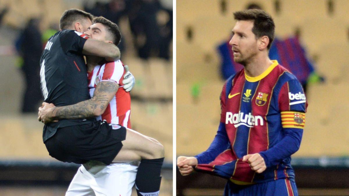 Jubel for Athletic Bilbao. Fortvilelse for Barcelona.