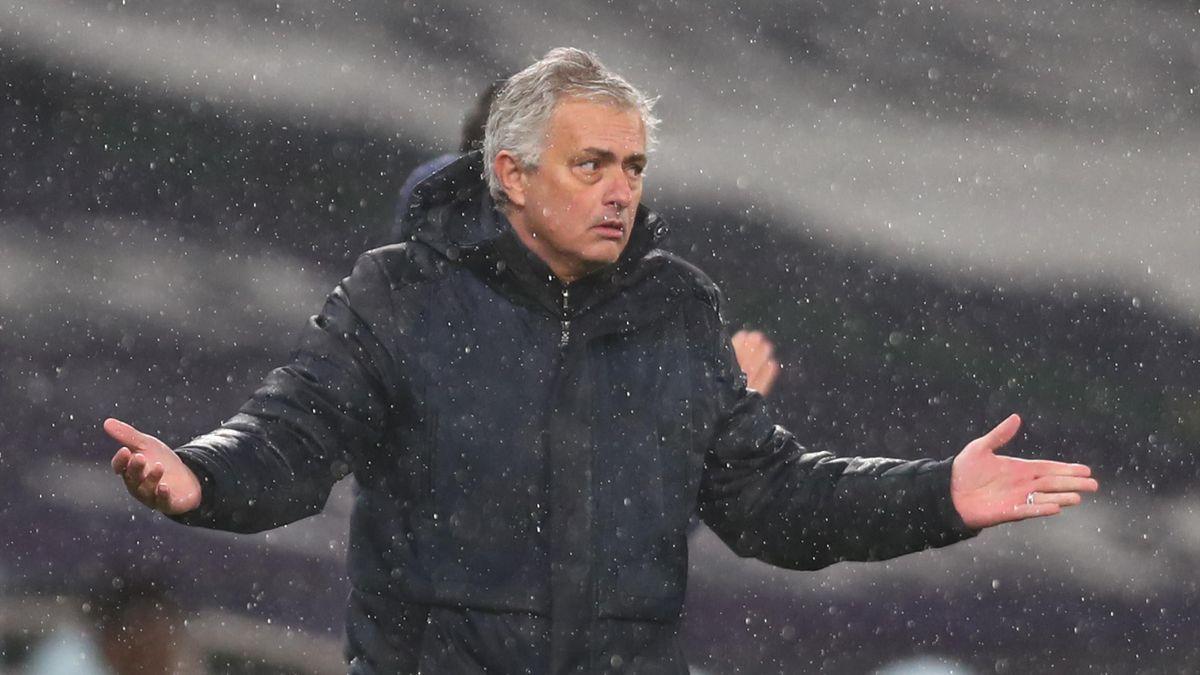 Tottenham Hotspur's Portuguese head coach Jose Mourinho