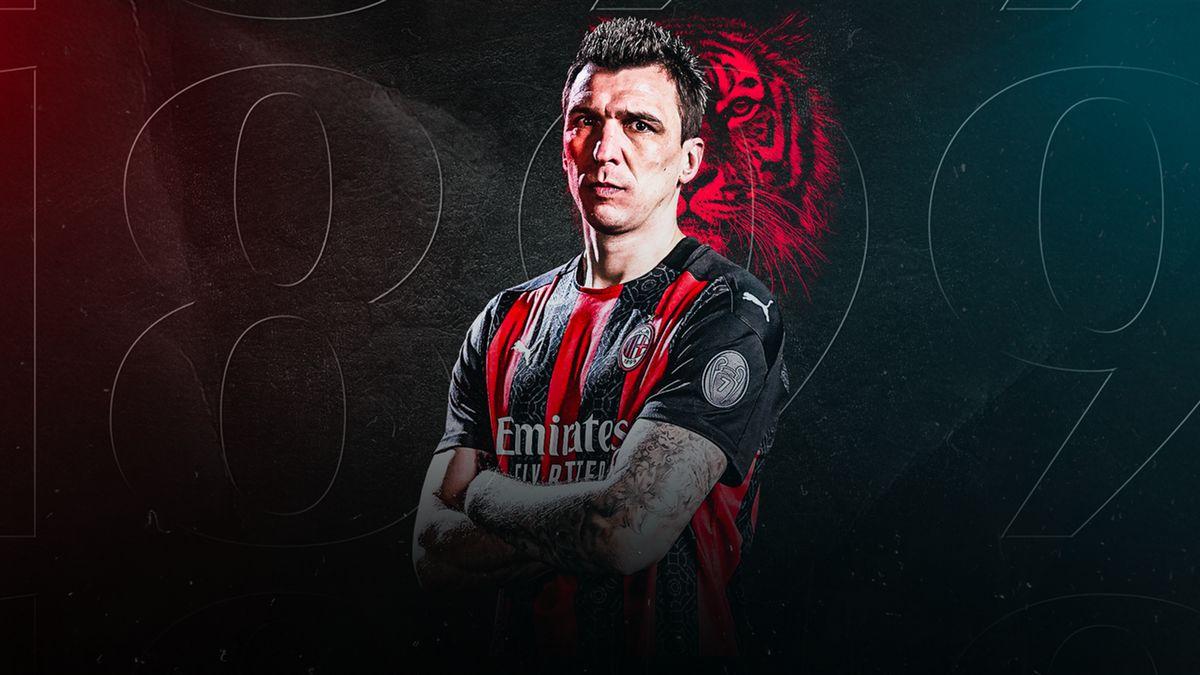 Mario Mandzukic veste la maglia numero 9 del Milan