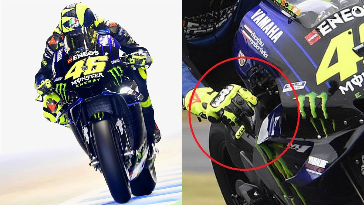 Valentino Rossi e la frenata alle due dita, Eurosport