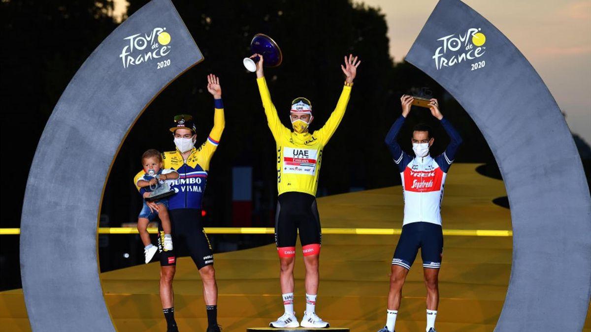 Tour de France 2020 podium