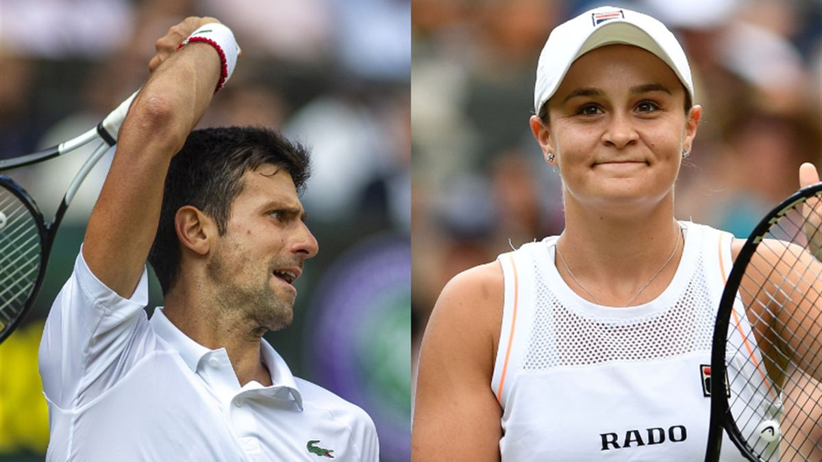Novak Djokovic and Ashleigh Barty