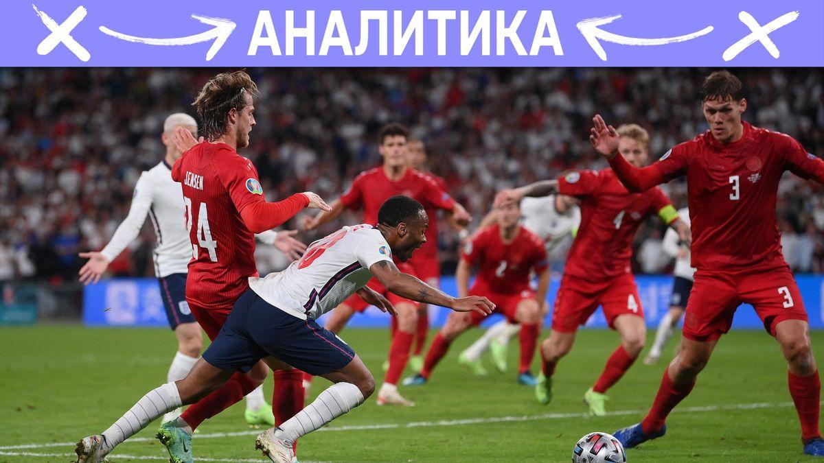 Англия в финале из-за спорного пенальти. Стерлинг нырял или нет?